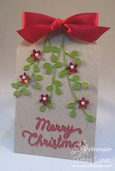 Day 1 of 12 Days of FSJ Christmas Tags ... uses the Bloom Cluster die