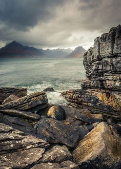 Storm brewing over Elgol - Isle of Skye Scotland by Dave Fieldhouse