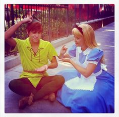 Alice Teaching Peter how to Drink his Tea ~ Too cute!! <3 <3 <3
