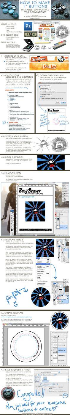 How to Make Buttons Tutorial by Tsubasa-No-Kami.deviantart.com on @DeviantArt