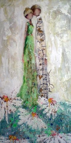 Kim Schuessler Love her work. by gena Mixed Media Canvas, Mixed Media Art, Mix Media, Art Journal Inspiration, Painting Inspiration, Illustrations, Illustration Art, Art Journal Pages, Art Journals