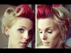 ▶ Victory Rolls in Short Hair - Rockabilly #2 - YouTube