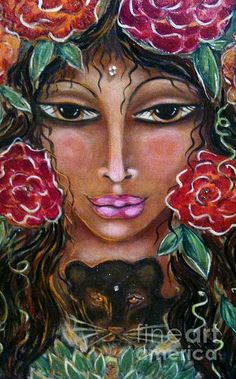 Our Lady Of The Lion Heart Painting by Maya Telford - Our Lady Of The Lion Heart Fine Art Prints and Posters for Sale fineartamerica.com