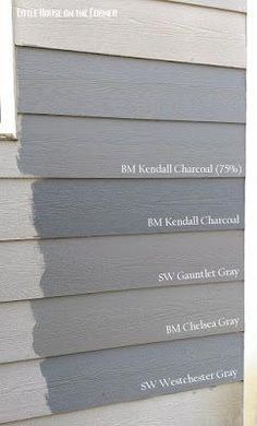 Accueil Peinture extérieure Reveal: Quest for the Perfect Grey - Little House on the Corner: Home Exterior Painting Reveal: Quest for the Perfect Grey -