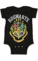 Harry Potter Unisex Baby Hogwarts Crest One Piece Snapsuit