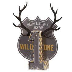 Wild One Personalized Centerpiece