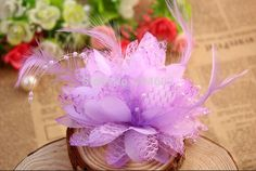 1 (10) Wholesale bridal hair accessories feather flower with bead Corsage Fascinator fabric flowers 20pcs/lot freeshipping MH81 $us 28/8u
