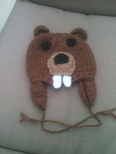 Brown Beaver Beanie For Toddlers Disney by KnitLikeTheDickens, $37.00