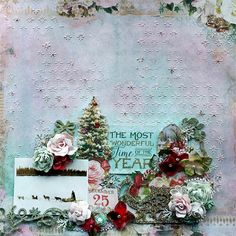 Debbie Burns for Blue Fern Studios featuring the Vintage Christmas paper collection