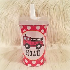 Kids personalized tumbler cup. Great for gifts and for on the go! Choose from the designs that are showcased on the sippy cups. Holds 10 Ounces. 100%
