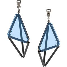 Issey Miyake geometric earrings ❤ liked on Polyvore featuring jewelry, earrings, earring jewelry, issey miyake, geometric earrings and geometric jewelry