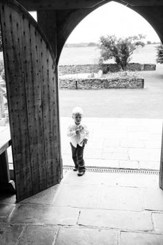 Wedding photography of Pageboy at Cripps Barn