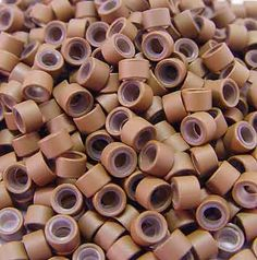 200 PCS 5mm Auburn Brown Silicone Lined Micro Rings Links Beads Linkies For I bonded Tipped Hair Extensions. Type: Silicone-lined Micro Rings. Color: Auburn Brown. Material: Aluminum & Silicone. Quantity: 200 pcs. Size: 5mm Outside Diameter, 3.5mm Inside Diameter, 3mm Length.
