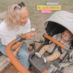 We are LOVING all of the sunshine we're getting this week, perfect weather for an ice cream and a stroll🍦☀️ Thanks to lucie.rebecca for sharing this sweet moment of her little one in his MOTO Travel System! Travel System, Car Seats, Sunshine, Ice Cream, Parenting, Weather, In This Moment, Grey, Sweet