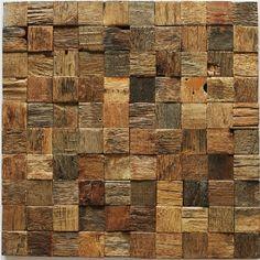 Wooden Wall Tile antique wood 3d radom strip plank wall tile mosaic sheet tile