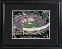 College Alabama Bryant-Denny Stadium Print with Wood Frame