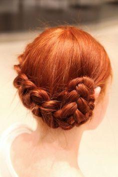Braid Updo Tutorial #hair #braid #redhair
