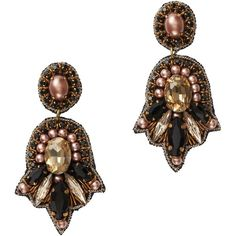 LOFT Collection Pearlized Gem Earrings by Suzanna Dai $50