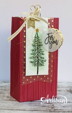 christmas bag christmas gift bags stampin up christmas christmas projects christmas 2016