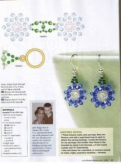Схемы: Beads & Button- Right-Angle Weave. Часть 1