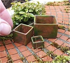 Miniature Garden Study, Patios and Pathway Materials
