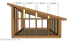 This step by step diy woodworking project is about pig shelter plans. If you want to build a sturdy lean to pig shed, while keeping the costs under control, take a look over the project. Pig Shelter, Horse Shelter, Patio Roof Covers, House Roof Design, Diy Storage Shed, Airstream Interior, Diy Shed Plans, Wood Shed, Tiny House Cabin