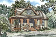 [ Craftsman House Plans Home The Plan Style With Porches Small Ranch ] - Best Free Home Design Idea & Inspiration Craftsman Cottage, Cottage House Plans, Small House Plans, Cottage Homes, House Floor Plans, Rustic Cottage, Cottage Style, Craftsman Homes, Lake Cottage