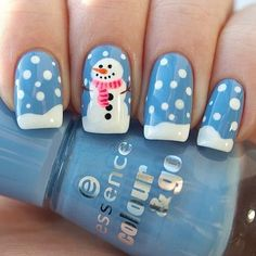 Pin for Later: The 64 Best Works of Nail Art This Year  This adorable snowman is only one of many holiday nail art ideas we have for you.