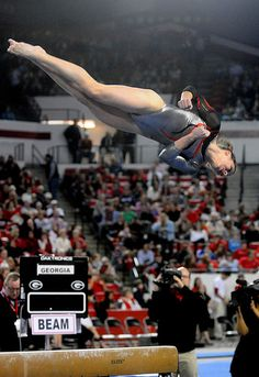 LSU Georgia Gymnastics by Kelly M. Gymnastics Pictures, Gymnastics Girls, Sports Pictures, Rhythmic Gymnastics, Gymnastics Things, Gymnastics Posters, 2004 Olympics, Georgia College, Punch In The Face