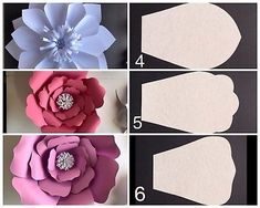 Paper Flower Template Kit - DIY - Make Unlimited Flowers - Make Picture 10 of 10 Paper Flower Patterns, Paper Flowers Craft, How To Make Paper Flowers, Large Paper Flowers, Paper Flowers Wedding, Paper Flower Backdrop, Giant Paper Flowers, Flower Crafts, Diy Flowers