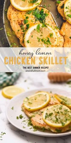 Honey Lemon Chicken Skillet is moist tender and bursting with flavor This homemade Mother s Day food comes together in less than 20 minutes with just a handful of ingredients A one-pan recipe for an easy family dinner on Mother s Day Pin this for later Healthy Lemon Chicken Recipe, Honey Lemon Chicken, Chicken Skillet Recipes, Easy Chicken Dinner Recipes, Healthy Chicken Dinner, Chicken Breast Recipes Healthy, Baked Chicken Breast, Dinner Healthy, Chicken And Leek Recipes