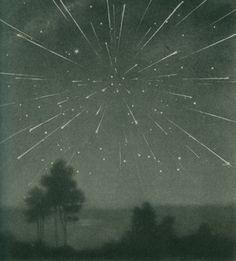 absurdtheaterofdesire:    The radiant meteor storm of 9 October 1933, Larousse Encyclopedia of Astronomy