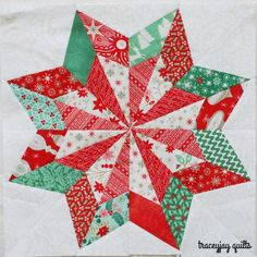 So Pretty Christmas Star block by traceyjay quilts Paper Piecing Patterns, Quilt Block Patterns, Pattern Blocks, Pattern Paper, Christmas Sewing, Christmas Star, Christmas Quilting Projects, Xmas, Modern Christmas