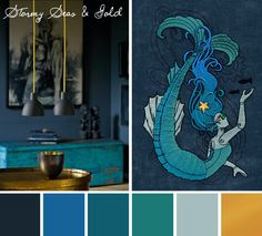 Try this Stormy Seas and Gold color scheme out on your embroidery designs.