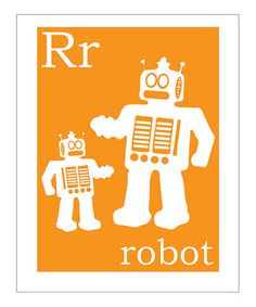 I wanna make my kids a sci-fi alphabet...R is for Robot...W is for Wookie...V is for Vulcan...etc. :)