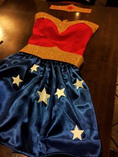 Handmade Wonder Woman costume! #sewing #creating #WonderWoman #handmade #carnival #diy #faidate