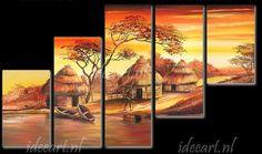Afrikaans Dorp | Schilderijen Afrika