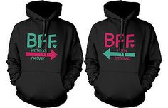 Cute Matching Sweatshirts for Best Friends - Crazy BFF Hooded Pullover Sweaters