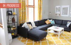 livingroom-progressFeb2013_1  Styling the VITTSJO shelving
