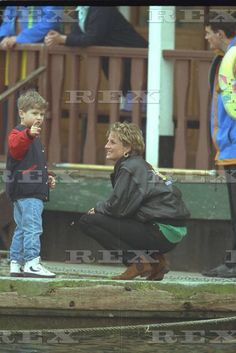 13 April 1993 during an outing at Thorpe Park, Diana spends time with Nicholas Burrell, her butlers son.