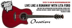 Cherry Cherry Burst Guitar with Case #Giveaway