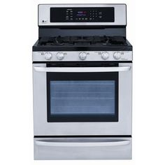 LG - Large Capacity Free Standing Gas Range – Cubic Feet - - Home Depot Canada Kitchen Cabinets Showroom, Discount Kitchen Cabinets, Custom Bathroom Cabinets, Kitchen Cupboard Designs, Appliance Reviews, Single Oven, Kitchen Sale, Kitchen Reno, Oven Range