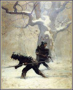 The Black Arrow illustration, N.C.Wyeth 1916
