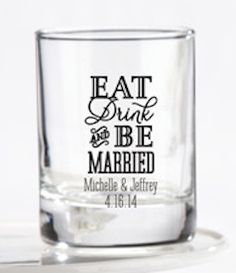 Eat, Drink, Be Married glasses