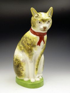 Staffordshire seated cat.