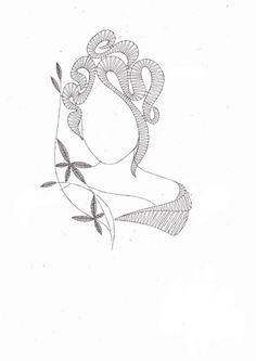 Podvinek 012 Hairpin Lace Crochet, Crochet Cross, Crochet Motif, Crochet Shawl, Crochet Edgings, Lace Earrings, Lace Jewelry, Bobbin Lacemaking, Lace Heart