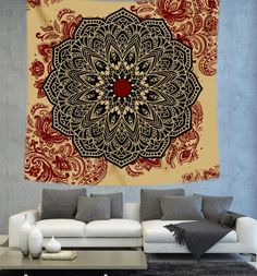 Mandala Tapestry Bohemian tapestry by Christinedecorshop on Etsy