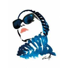 In Blue Canvas Art - Michel Canetti (18 x 24)