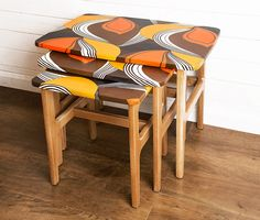Retro Nest of Tables, available to buy from remadeinbritain.com