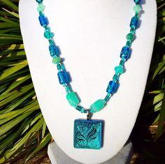 ON SALE Blue necklace